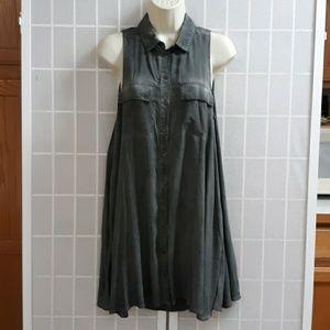 Silence+Noise ANTHROPOLOGIE Slate Gray Dress/Top S